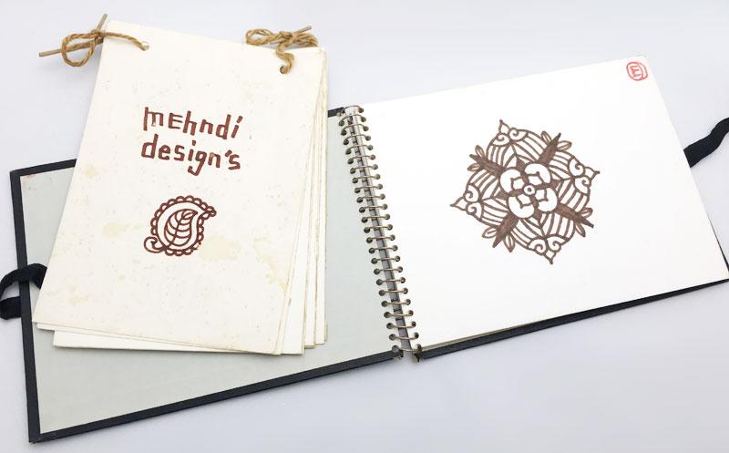 メヘンディ・ヘナアートセミナー デザインサンプル