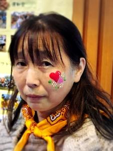 東京オリンピックボランティア・フェイスペインティングの画像