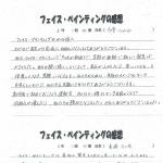 渡波中学校 フェイスペインティング実施アンケート その3