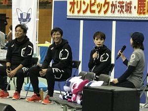 東京2020オリンピックに向けた鹿嶋市開催2年前イベント_鹿嶋アントラーズ_研ナオコの画像