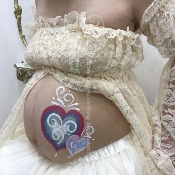 LiPiイオン入間店マタニティペイント:デザイン「ハート」の画像