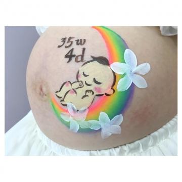 東大和店マタニティペイント:デザイン「赤ちゃん」の画像