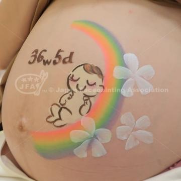 マタニティペイント:デザイン「赤ちゃん」の画像