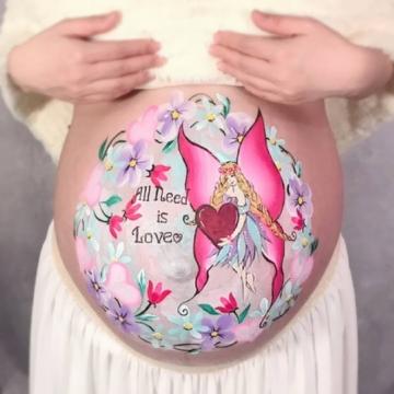 マタニティペイント「バレンタインの妖精」の画像