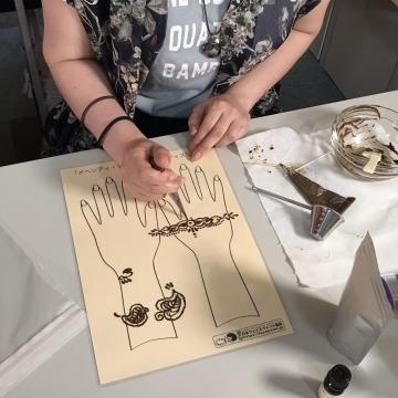 メヘンディ・ヘナアートセミナーの画像